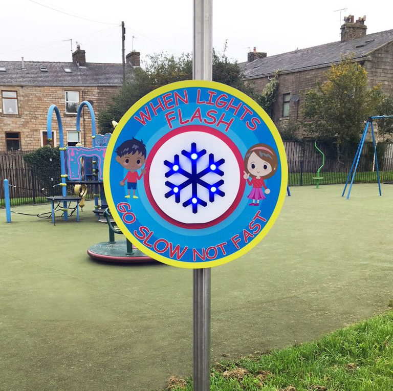 Ice Guardian Playground Sign