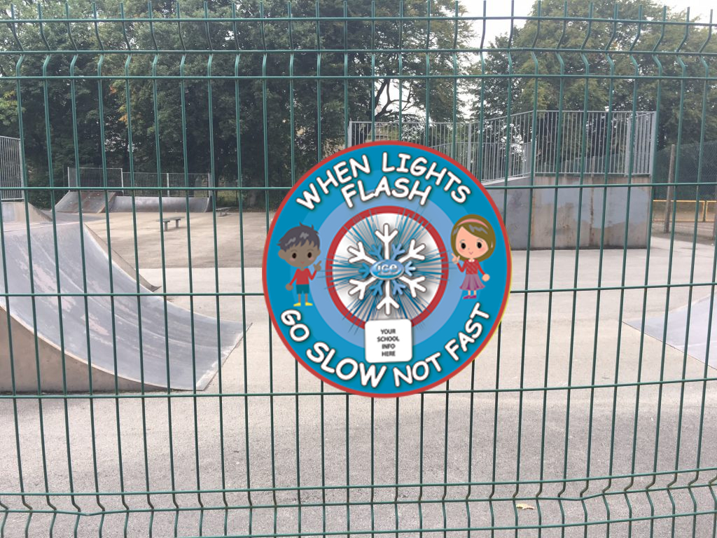 Ice Guardian Playground Fence Sign